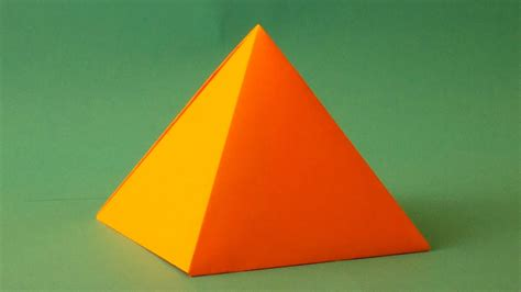 origami how to make a paper pyramid easy origami pyramids