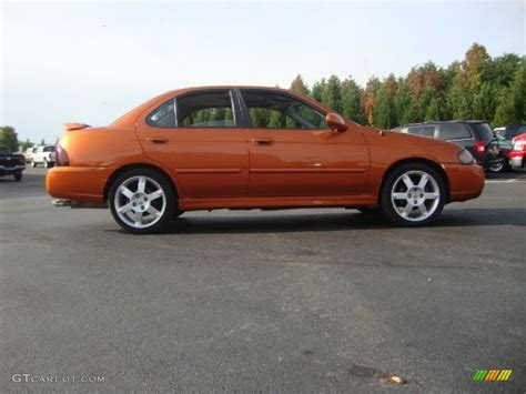 orange nissan sentra volcanic orange 2005 nissan sentra se r exterior photo
