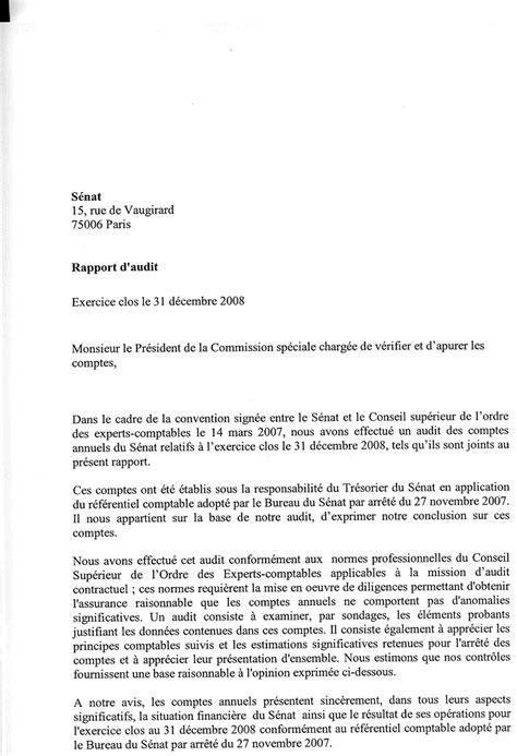 Résiliation Lettre De Mission Comptable Les Comptes Du S 233 Nat De L Exercice 2008