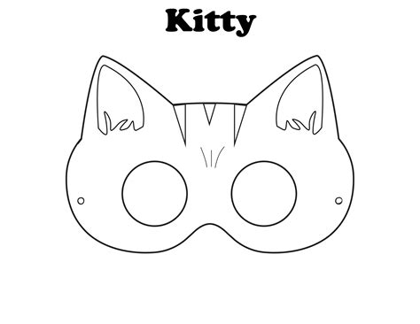cat mask template free printable masks craft diaries