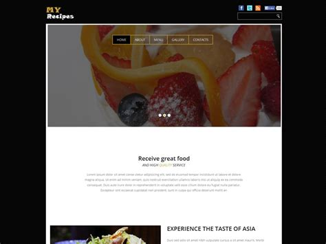 bootstrap templates for grocery my recipes free bootstrap template for food freemium
