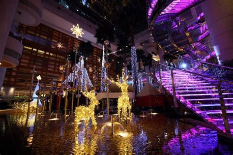 shopping in shanghai during new year winter and new year celebrations at