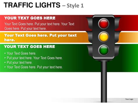 stop light template traffic lights style 1 powerpoint presentation templates
