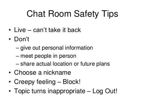 how to stay safe in a chat room chat room exle