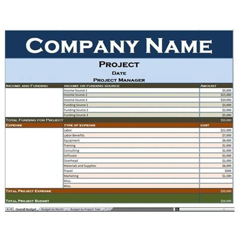 Excel Project Budget Mba by 42 Best Pm Templates Forms Images On Project
