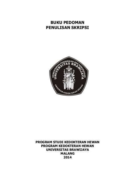 format cover skripsi ub pedoman penulisan skripsi kedokteran hewan
