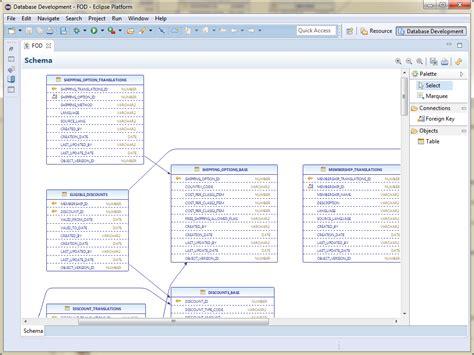 database schema editor 9 oracle database support