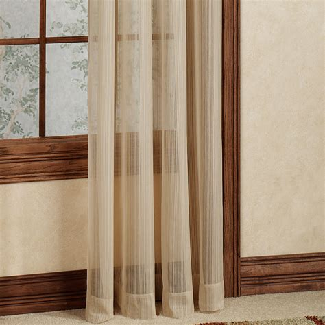 striped drapery panels atlantic stripe semi sheer grommet curtain panels