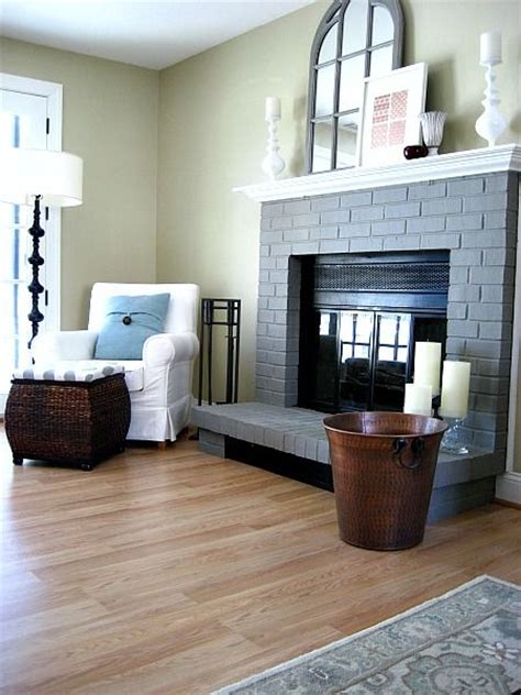 a painted brick fireplaces fireplaces and grey