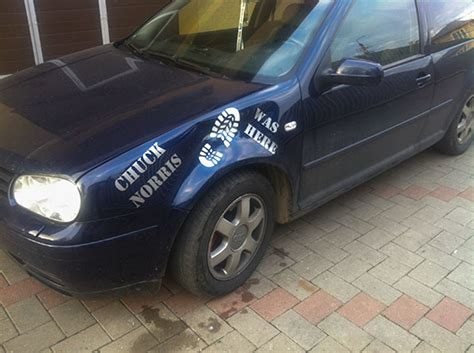 Chuck Norris Was Here Aufkleber Auto by Sticker Quot Chuck Norris Was Here Quot Blog Tribale Ro