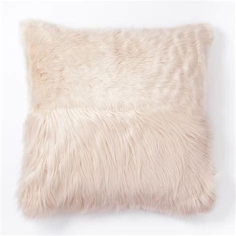 Fur Pillow Cover by Faux Fur High Low Pillow Cover West Elm