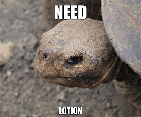 Lotion Meme - need lotion insanity tortoise quickmeme