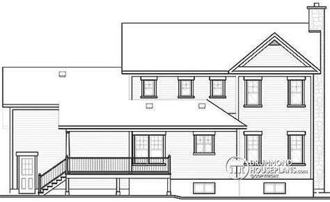 2 story house floor plans and elevations house plan w2853a detail from drummondhouseplans com