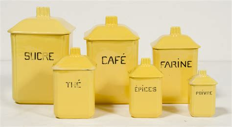 French Kitchen Canisters french ceramic canisters set of 6 omero home