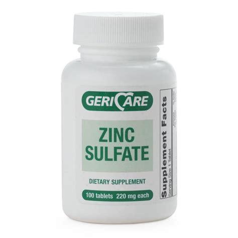 Tablet Zinc Zinc Sulfate Tablets Geri Care Pharmaceuticals Otc533260zinc Sulfate Tablets