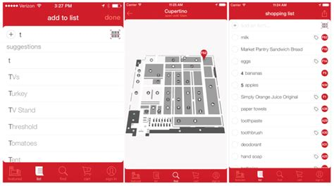 app layout map target app now features in store product search and