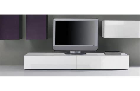 meuble tv bas laque blanc