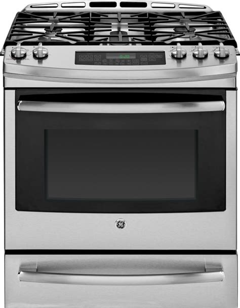 ge 5 0 cu ft slide in self cleaning convection gas range