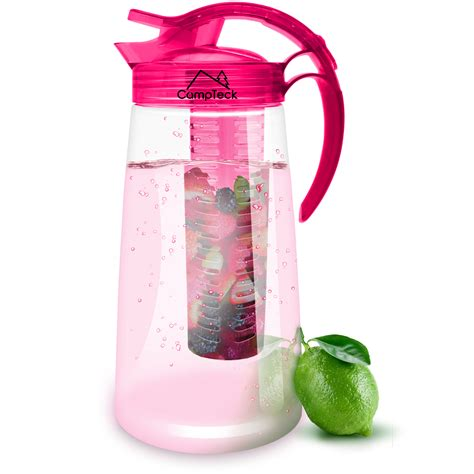 Detox Water Pitcher by Cteck 2 Litre 2000ml Fruit Infuser Water Jug Pitcher