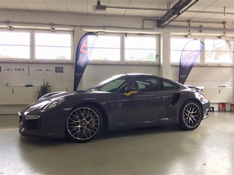 fashion grey porsche turbo s schicker style porsche 991 turbo s in stone grey gloss