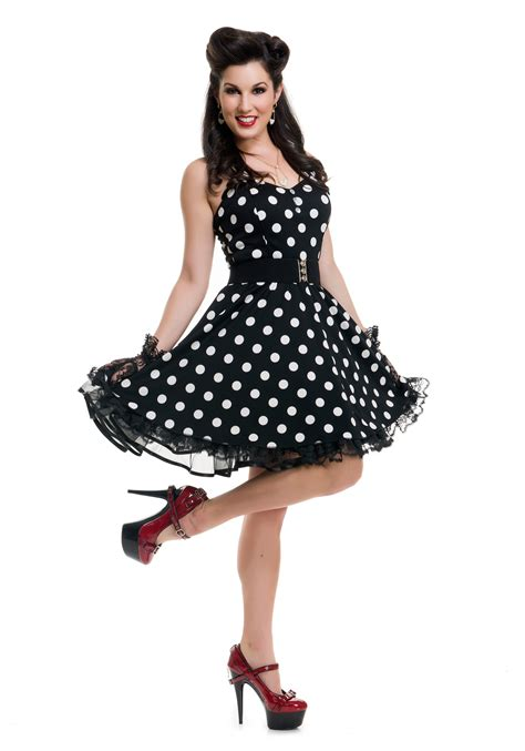 pin up women s black polka dot pin up costume