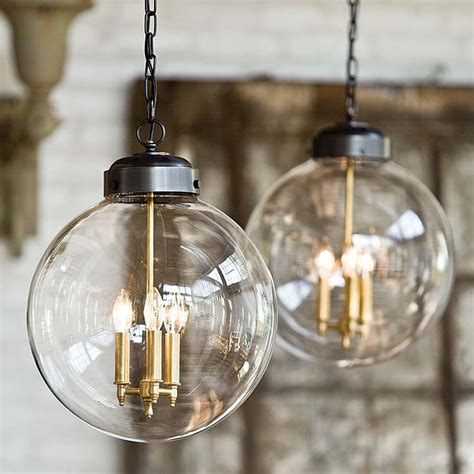 Large Glass Globe Pendant Light Clear Glass Orb Pendant Large Home Emporium Bhe Studio