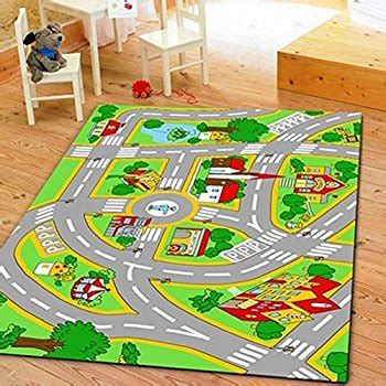 Kid Play Rug Rug City Map Play Rug 5 X 7 Children Area Rug Non Skid Gel Backing 59