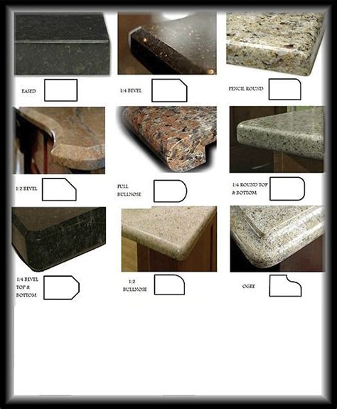 Granite Countertops Edge Styles by 39 Best Images About Edge Profiles On Br
