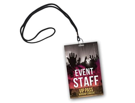 badge size template vip pass events vip pass psd templates