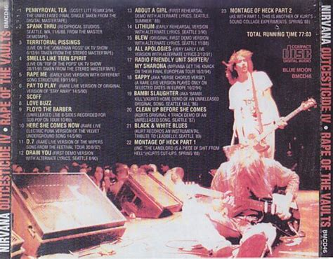 Nirvana 1cd 1989 nirvana outcesticide iv of the vaults 1cd