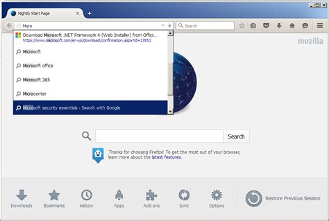 Search In Address Bar Firefox Now Has Live Search Suggestions In The Address Bar