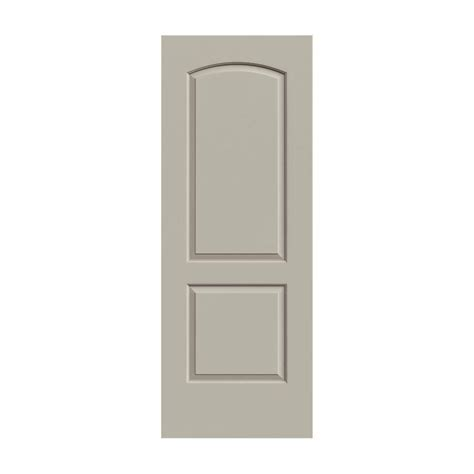jeld wen smooth 2 panel arch painted molded single prehung 24 in x 80 in smooth 2 panel arch top painted molded