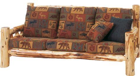 cedar log frame sofa standard fabric includes fabric