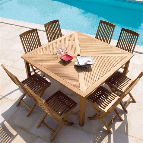 table en teck de jardin prendre soin de sa table en teck maison jardin