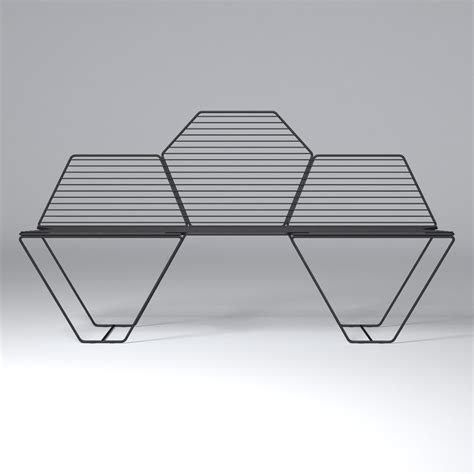 hexagon bench hexagon bench casamania 3d model max obj fbx cgtrader com