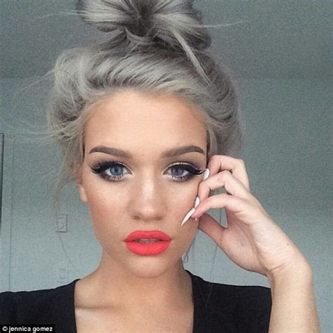 gray hairstyles in young women women embrace granny hair trend and post silver selfies