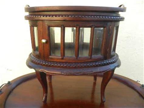 mini accent table l mini curio vitrine accent table w bevelled glass cabinet