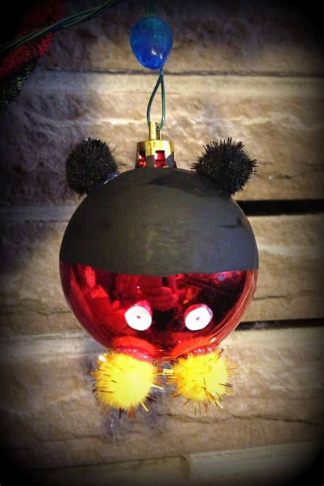 mickey mouse christmas ornament diy i ll be home for