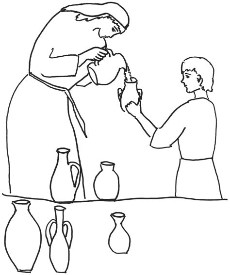 elisha and the widow s oil coloring page coloring pages