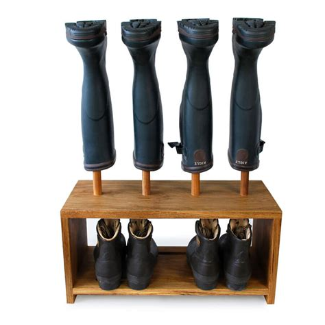 shoe boot rack oak wellington and shoe rack 2 pair