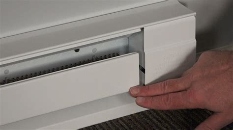replacing an electric baseboard heater how to fix a baseboard heater cover gap