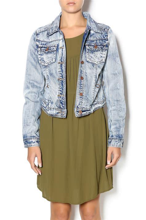 Crows Denim Blue Denim Style aztec print denim jacket shoptiques