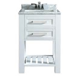 Bathroom Vanity Home Depot Home Decorators Collection 24 In Vanity In White With Marble Vanity Top In Carrara White
