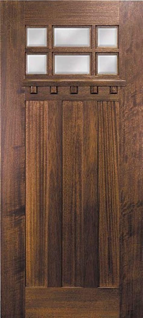 Slab Exterior Doors Slab Entry Single Door 80 Mahogany Craftsman 3 Panel 6 Lite Tdl Glass Craftsman Front Doors