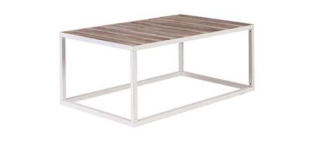 table basse bois et metal 99 table basse bois et m 233 tal blanc 100 x 60 rochelle miliboo