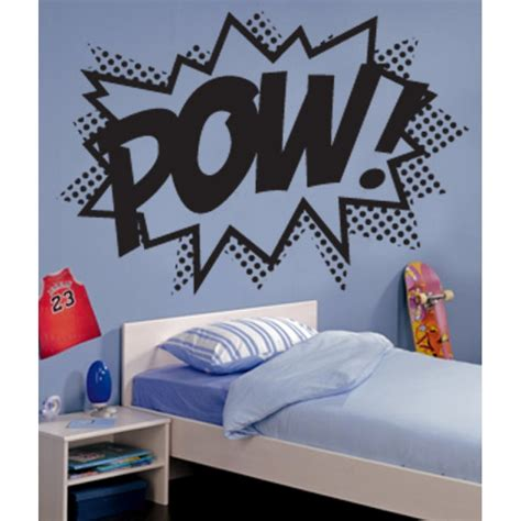 pow wall stickers pow punch wall stickers wall stickers