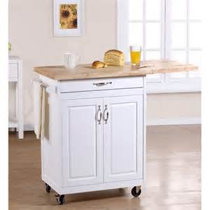 Mainstays Kitchen Island Kitchen Cart White Storage Island Rolling Cabinet Chopping