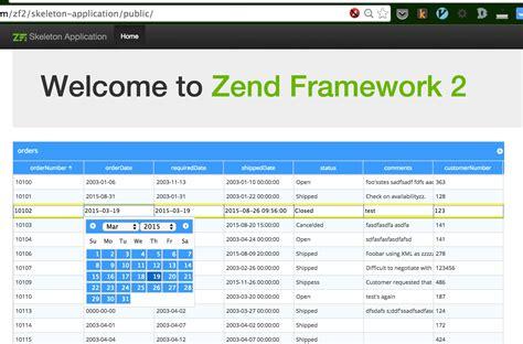zend framework 2 layout template phpgrid and zend framework integration phpgrid php