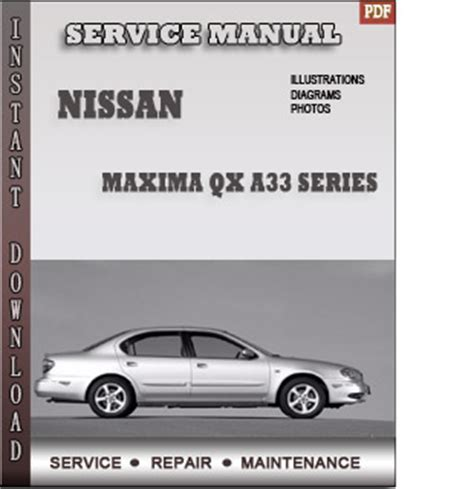free auto repair manuals 2008 nissan maxima security system nissan maxima qx a33 series service repair manual
