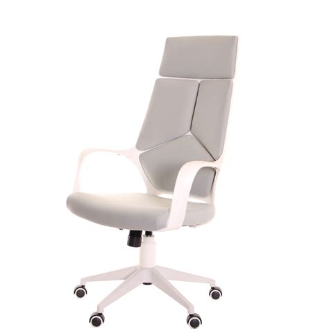 Ergonomic Office Desk Chair Modern Ergonomic Office Chair Grey White By Timeoffice Time Office Furniture